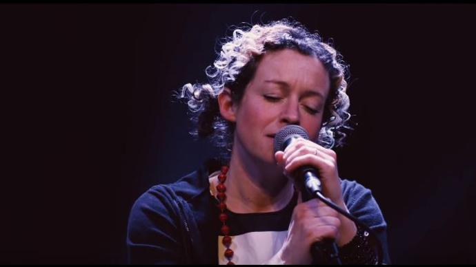 kate rusby singing at a concert in central london