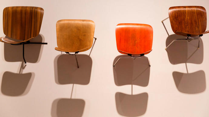 Photo of Eames chairs from above
