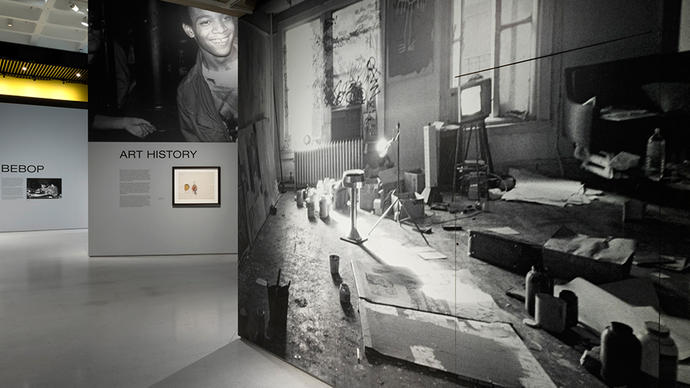 Photo of Basquiat's studio