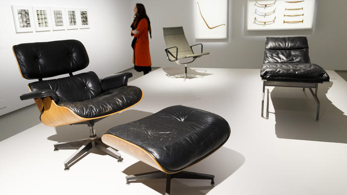 Eames chair in the Barbican Art Gallery