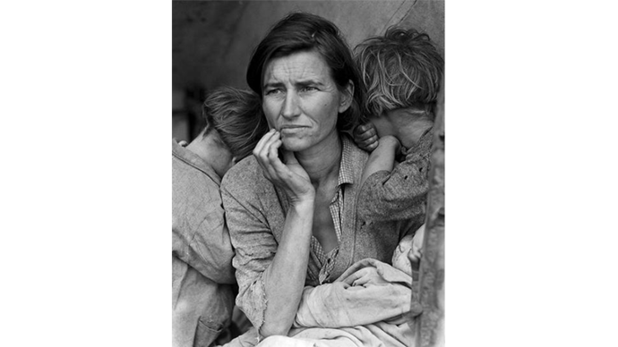 Photo of woman by Dorothea Lange