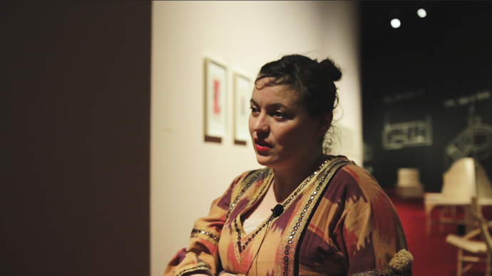 photo of yto barrada in her exhibition agadir