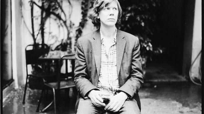 black and white photo of thurston moore