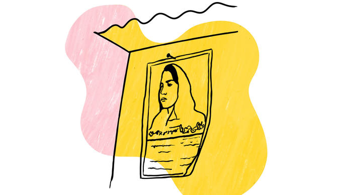 Illustration of Malalai Joya