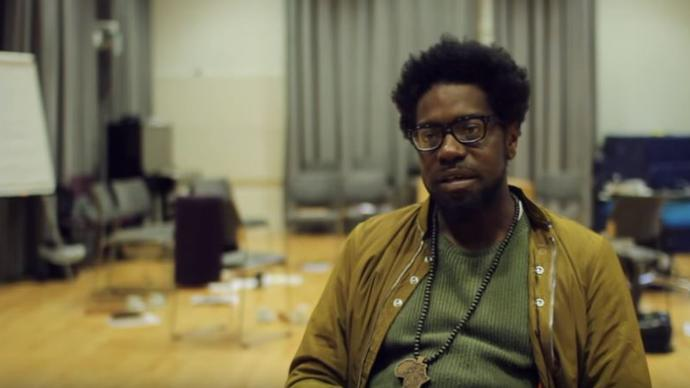 soweto kinch in a music room