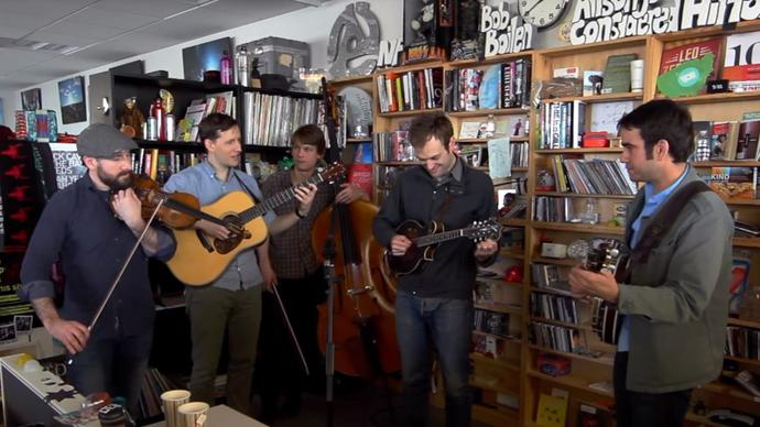 photo of punch brothers performing music at npr offices