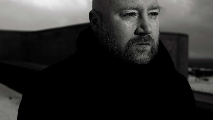black and white photo of johann johannsson