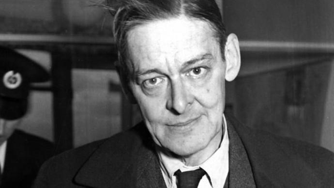 black and white photo of ts eliot