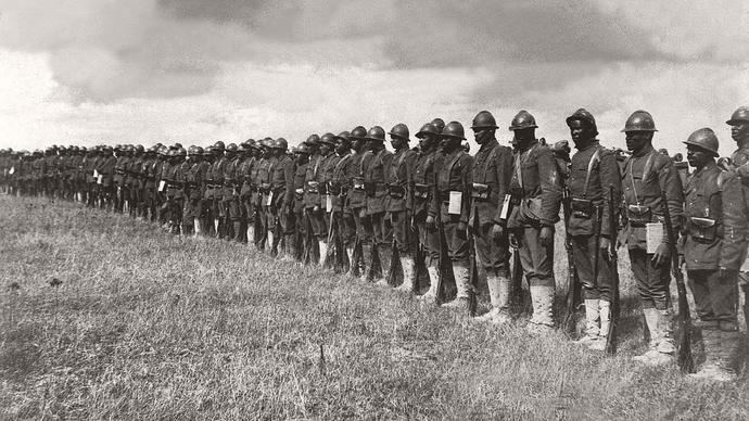 black and white photo of soldiers
