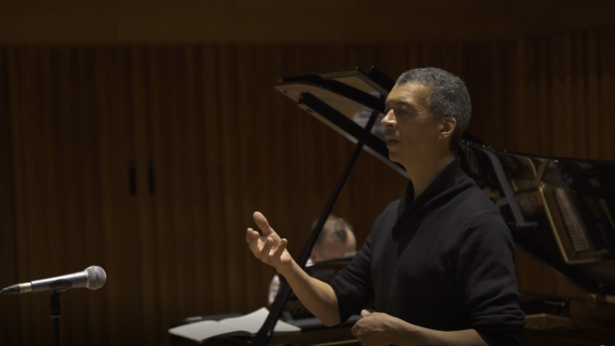 photo of roderick williams singing