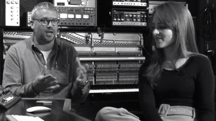 Photo of Hannah Peel and Will Burns talking to the camera