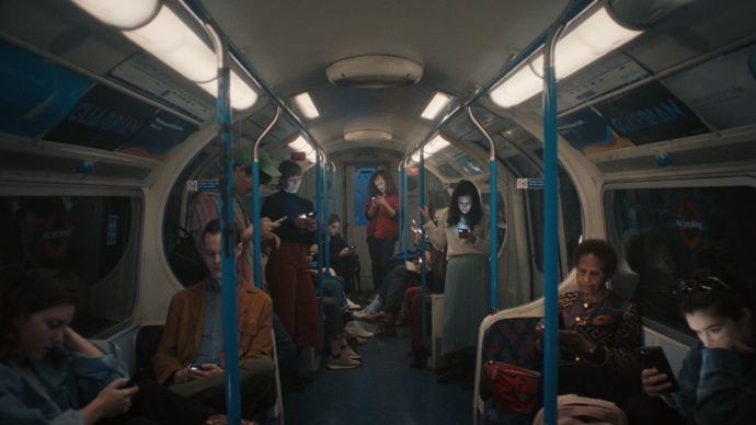 Group of people on underground