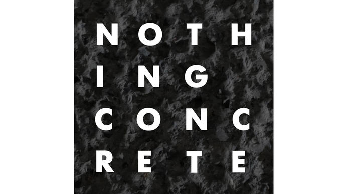 Nothing Concrete text on concrete background