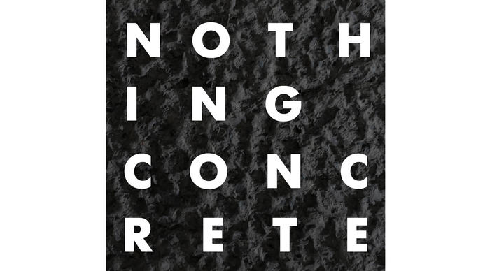 Nothing Concrete text on concrete