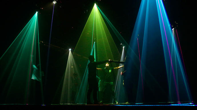 Photo of Umbrellium installation in Digital Revolution at Barbican Centre