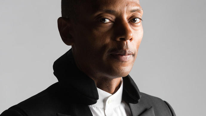 a picture of jeff mills before his concert at the barbican centre in london