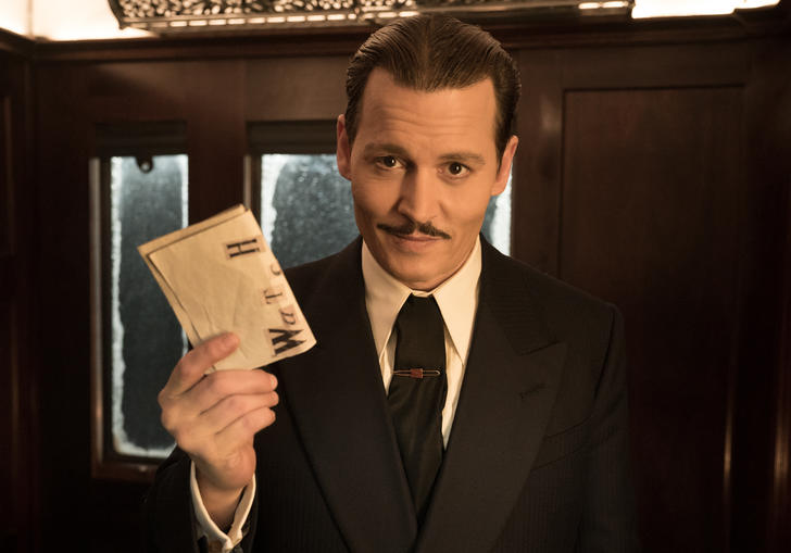 A still from Kenneth Branagh's Murder on the Orient express starring Johnny Depp