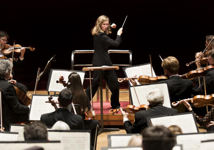 Mirga Grazinyte-Tyla conducting the CBSO