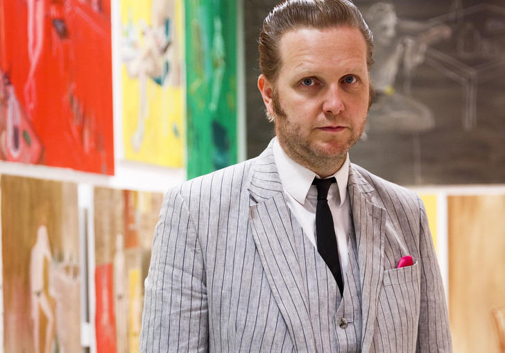 Artist Ragnar Kjartansson in suit