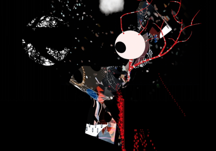 A still from Figure Study II by Jon Gillie, part of Edge of Frame: Particles in Space