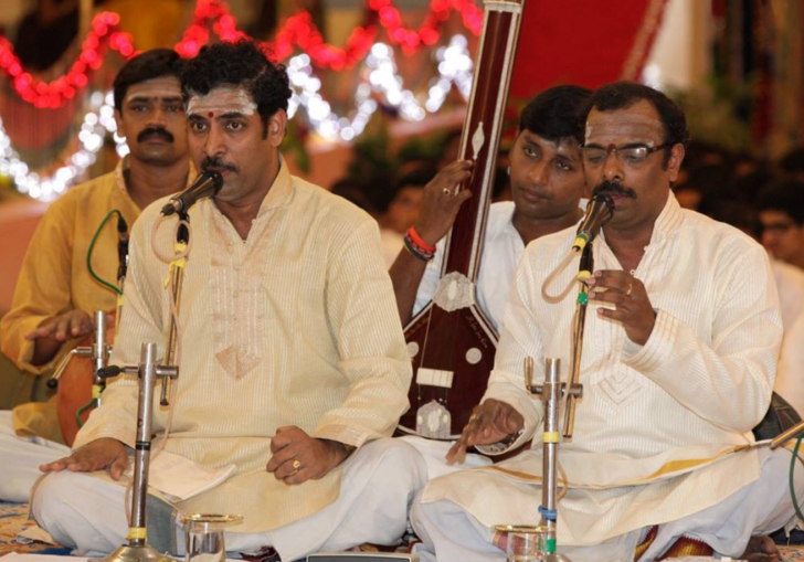The Malladi Brothers singing