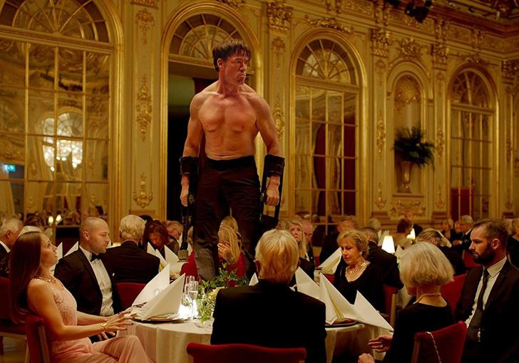 A still from Ruben Ostlund's The Square