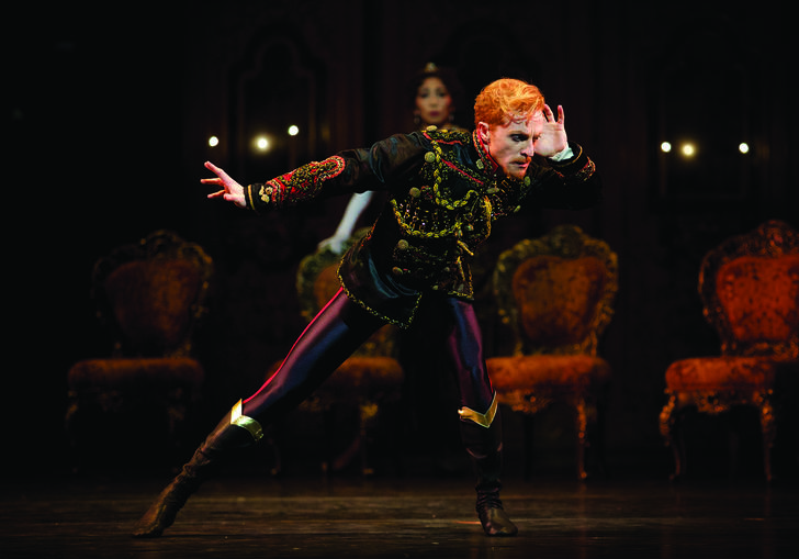 Steven McRae as Crown Prince Rudolf in Kenneth MacMillans production of Mayerling for The Royal Ballet (c) ROH 2017. Photograph by Alice Pennefather.