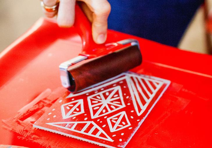 Image of Lino cutting workshops with Jamie Temple as part of Make! Summer Workshops in the Barbican Shop