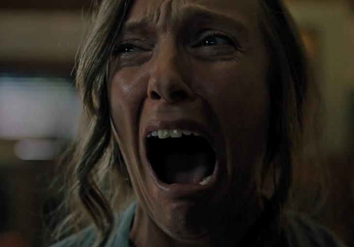 Toni Collette is not having a good time in Hereditary
