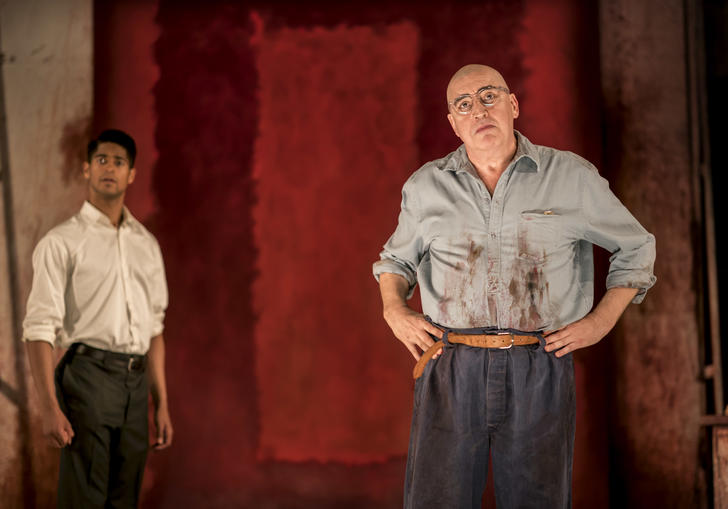Alfred Molina and Alfred Enoch in Red. Photo by Johan Persson