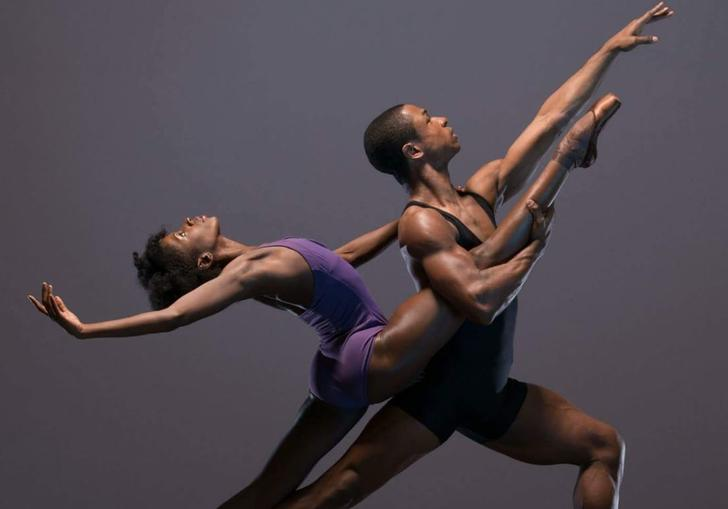 photo of two dancers from ballet black
