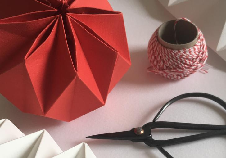 Image of paper folding with Kate Colin Christmas Decorations