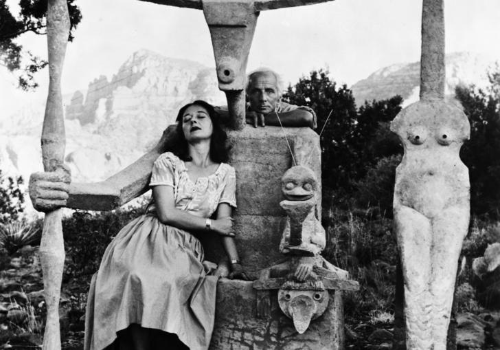 A photograph of Dorothea Tanning and Max Ernst.