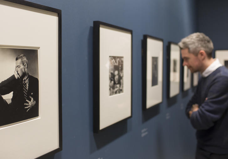Installation view of Modern Couples featuring the work of George Platt Lynes