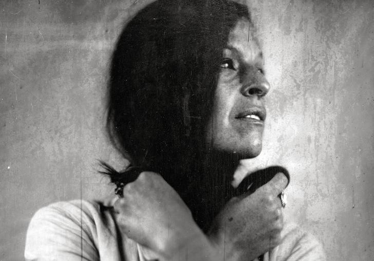 B&W image of Jesca Hoop embracing self