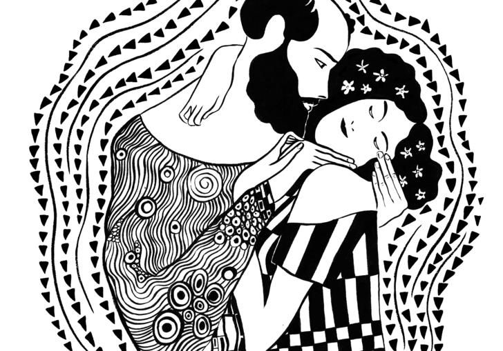 Klimt Floge illustration