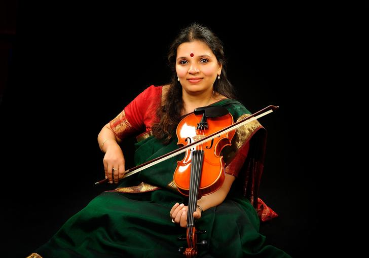 Kala Ramnath with violin