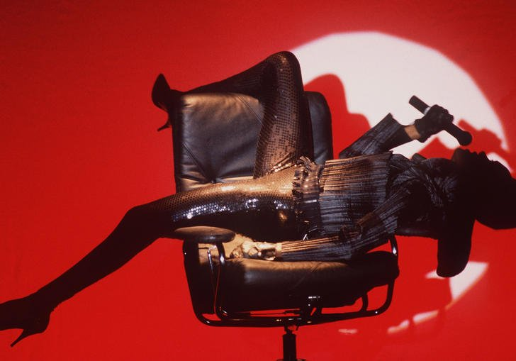 Image of Grace Jones by Mark Allan for Barbican Music Library Exhibition