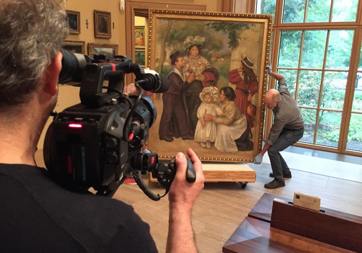 Filming the Artists's Family, 1896 at The Barnes Foundation