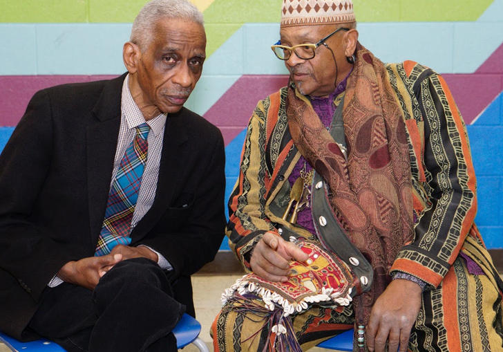 Art Ensemble of Chicago leaders Roscoe Mitchell and Don Moye