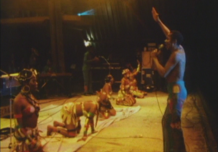 fela kuti on stage