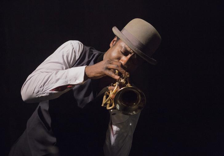 Gary Carr playing the cornetist Buddy Bolden