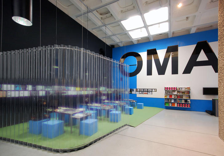 Installation view of OMA Progress