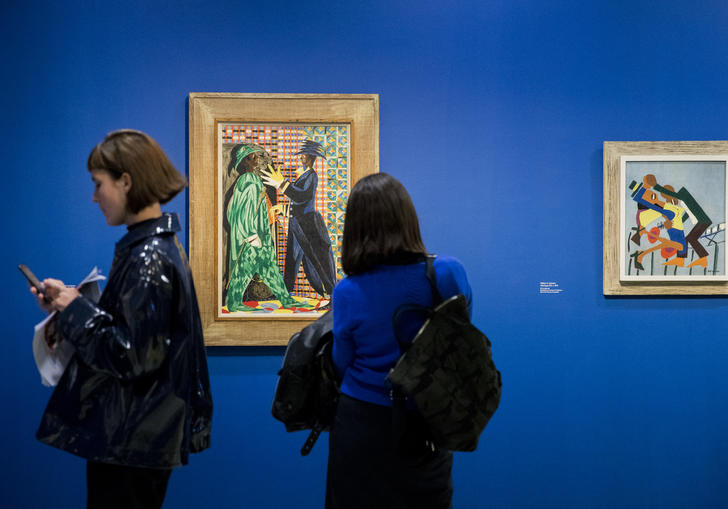 Into the Night: Cabarets and Clubs in Modern Art, Barbican Art Gallery. Getty Images, photo by Tristan Fewings.