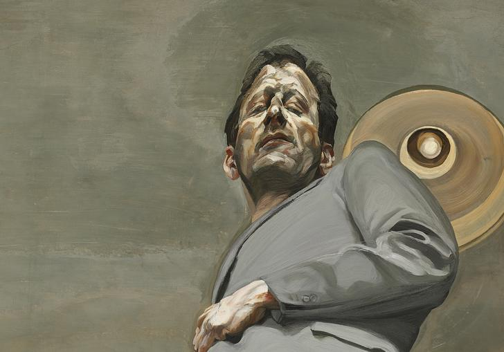 distorted self portrait of lucian freud