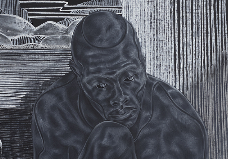 Work by artist Toyin Ojih Odutola, entitled Early Embodiment