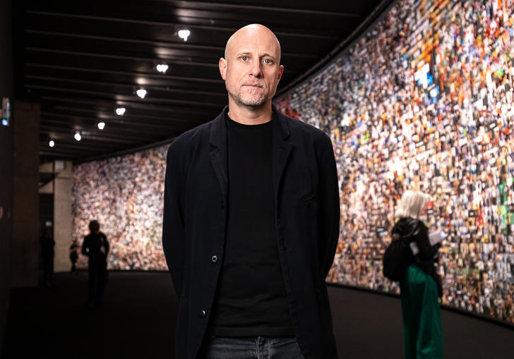 Trevor Paglen in an exhibition
