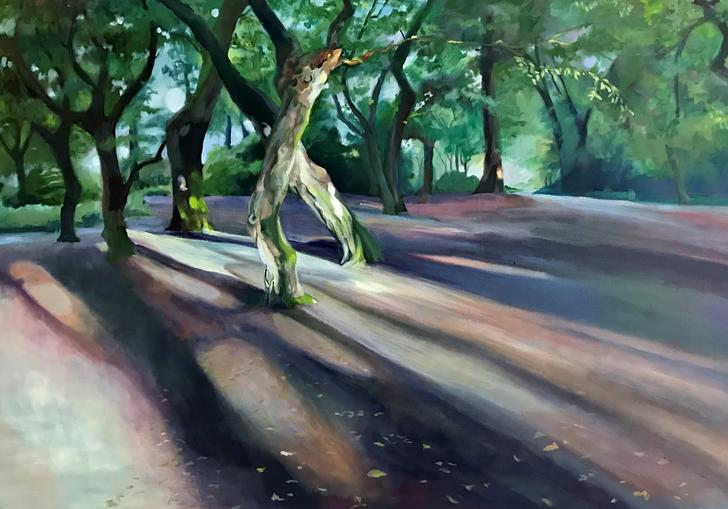 A painting of Epping Forest by Alison Chaplin