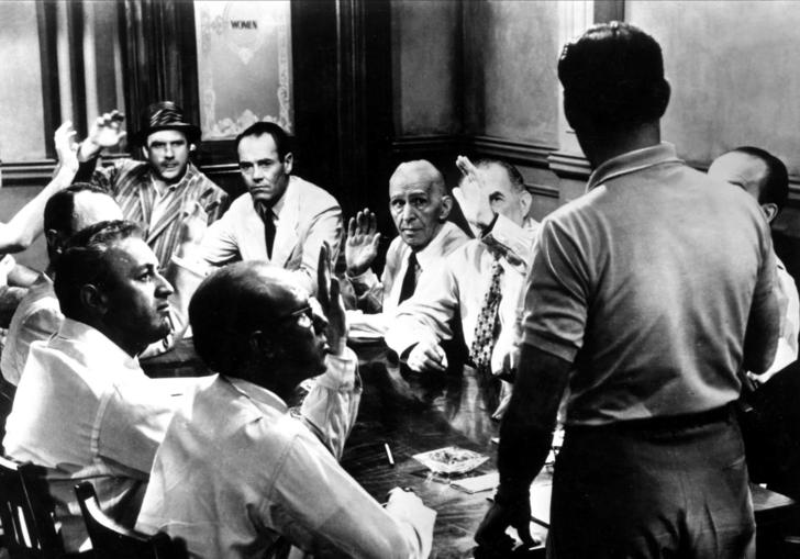 12 angry men in a room