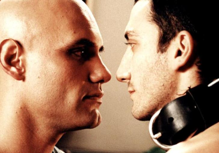 Two men look each other in the eyes in Argentinian drama A Year Without Love